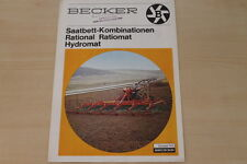162337) Becker Saatbettkombination Prospekt 198?