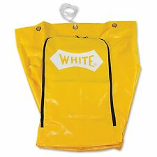 Impact Products Janitor's Cart Replacement Bag - 25 Gal - Yellow - Vinyl - 1each