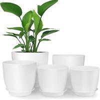 Flower Pot Indoor Modern Decorative Plastic Plant Pots Plastic Planter Pots