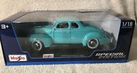 Maisto 1/18 Diecast Special Edition 1939 Ford Deluxe Coupe
