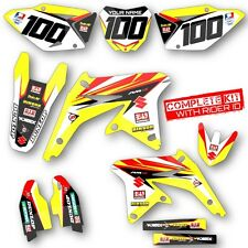 2007 RMZ 450 GRAPHICS KIT SUZUKI RMZ450 DIRT BIKE MOTOCROSS SUPERCROSS DECALS