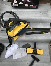 Polti Vaporetto Pocket Steam Cleaner with accessories- Yellow - Pristine!