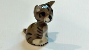 Vintage hagen renaker Monrovia striped alley kitten cat miniature animal