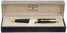 Parker Classic Aster Matte Black Jotter Frontier GT Gold Trim Ball Point Pen New