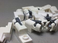 NEW White LEGO Plate 1 x 2 with Mini Blaster Shooter - Star Wars AUTHENTIC (x12)