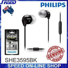 PHILIPS SHE3595BK Headphones Earphones with Mic - Extra Bass - BLACK - GENUINE
