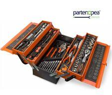 Cassetta attrezzi completa di 85 utensili a 5 scomparti chiavi cricchetti pinze