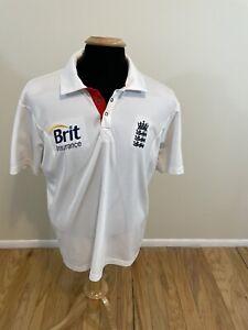 England Cricket 2010 Jersey Adidas Shirt White Men's Large