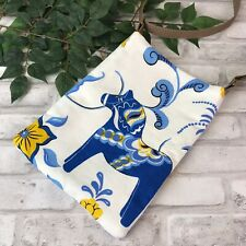 Swedish Dala Horse Dark Blue White Dalahäst Kurbit Cross Body Shoulder Bag Purse