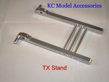 Soporte de soportes de Aluminio TX transmisor Futaba JR/Spektrum Extra Larga De Plata