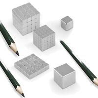 50x Starke Neodym Supermagnete Magnete Quader Würfel Cube Magnet N45 5x5x5mm