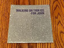 JOHN LENNON WALKING ON THIN ICE ORIGINAL PICTURE SLEEVE WITH 45 RPM ~ 1981