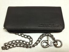 "Dickies Mens Leather Trucker Long Wallet 16"" Chain 31Di3000 Black"