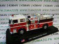 voiture 1/64 DEL PRADO Pompiers du Monde : USA Seagrave K-type pumper
