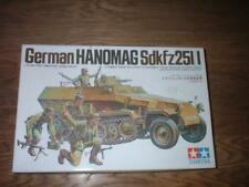 TAMIYA 35020 1:35 HANOMAG SDKFZ 251/1 Complete Plastic Model allemand WWII Kit