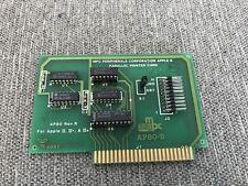 Vintage Apple II Computer MPC AP80-B Parallel Printer Card IIe IIgs II Plus