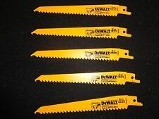 """(25) DEWALT DW4802 6"""" 6TPI TAPER BACK BI METAL RECIPROCATING SAW BLADES X 25"""