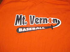 Womens Ladies Size XL X-Large Mt. Vernon Illinois IL Baseball Orange Shrit