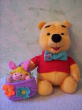 "Disney's - 1998 - Winnie the Pooh with Piglet in basket - 9""tall - ON  CLEARANCE"