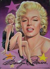 MARILYN MONROE: Bust+ Black Teddy Blonde Bombshell METAL SIGN