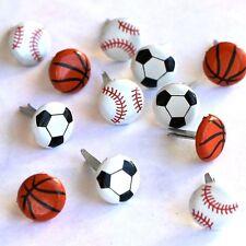 Brads Mini Ball Balls Basketball Soccer Baseball Boy PK of 6 Scrapbooking