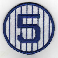 JOE DiMAGGIO YANKEES RETIRED 1939 JERSEY NUMBER 5 PATCH