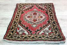 Fein Handgeknüpfter Perser Orientteppich Malayer Hamedan Old Carpet 60x40cm