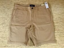 """Men's Abercrombie A&F 9"""" Stretch Flat-Front Short Size 34 Khaki - New with Tags"""