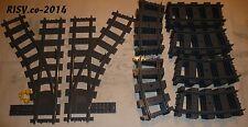 Lego® City Schienen 26 Stück inkl. Weichen NEU # 7898 7897 60051 60052