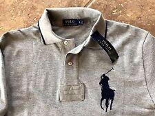 Polo Ralph Lauren Polo Mesh Polo Shirt Mens XXL Gray Hthr Navy Big Pony $98 NWT