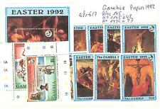 LOT GAMBIE TIMBRES NEUFS** THEMES RELIGION EGLISE CROIX ECT...