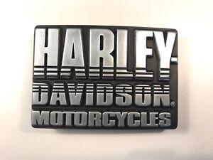 """Harley-Davidson mens """"Font"""" belt buckle .#97782-08V.Gunmetal plaited."""