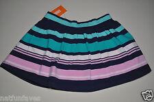 Gymboree girls striped blue green pink skirt size 5 NWT girl elastic waist