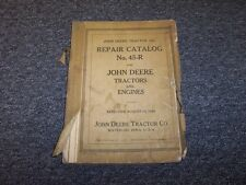 John Deere A AN AW AR AO AI Tractor & Engine Shop Service Repair Catalog Manual