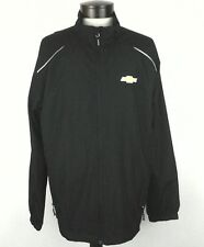 VEUC CHEVROLET CAR Mens JACKET Windbreaker Black LOGO Large L EXCELLENT *