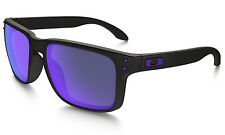 New Oakley Holbrook OO9102-26 Matte Black Frames with Viol Irid Lens - Authentic