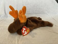 Ty Beanie Baby Chocolate the Moose, style 4015, w/ Tag errors 1993 Mint