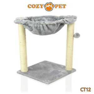 Cozy Pet Deluxe Cat Tree Sisal Scratching Post Quality Cat Trees - CT12-Grey