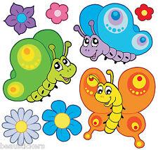 Stickers muraux enfant papillons 30x30cm réf 2521