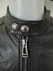 Belstaff K racer blouson leather jacket, black, size 50 M - L