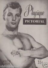 PHYSIQUE PICTORIAL MAGAZINE* MARCH 1954* VOL. 4 NO. 1 * VERY RARE ISSUE*UNCIRCA