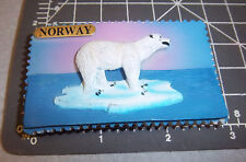 Norway Fridge Magnet, Polar Bear on ice berg, resin style 3D magnet, NEW
