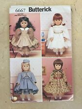 "Uncut Butterick 6667/322 18"" Doll Historical Clothing Wardrobe Sewing Pattern"
