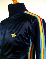 Adidas Navy Wool Knit Shell Track Jacket - M - Ska Mod Scooter 80's Casual Rare
