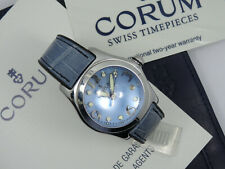 RARE CORUM BUBBLE 35mm S.STEEL CASE WATCH 39.150.20 w/ PAPER *  WORKING