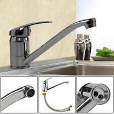 Single Lever Chrome Kitchen Sink Mono Basin Mixer Tap Faucet Swivel Spout UK