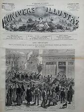 L'UNIVERS ILLUSTRE 1877 N 1186 LA FÊTE DE LA SAINTE- BARBE A VINCENNES