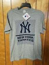 NEW YORK YANKEES Shirt Graphic T Short Sleeve ADULT M MEDIUM Gray New Fashion