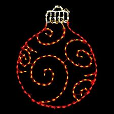 Red/Org Holiday Ornament Holiday Outdoor LED Lighted Decoration Steel Wireframe