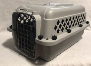 """Pet Carrier Travel Crate Cat Small Dog Plastic Hard Sided Metal door 20"""" x 12"""""""